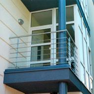 Nerezové balkónové zábradlie